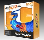 Max Traxxx Max Flexxx R/C Light Trace Technology Glow in the Dark Flexible Track System