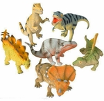 "Medium Dinosaurs Toys, 6 pcs, 9""-11"""