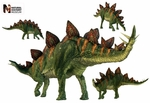Stegosaurus Dinosaurs Group Wall Stickers