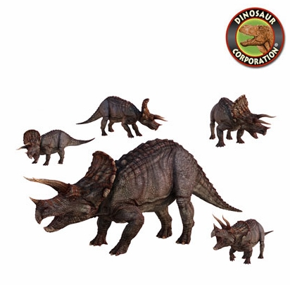 triceratops dinosaurs wall stickers graphics decoration