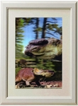 3D Jurassic World Pachyrhinosaurus Dinosaur Framed Picture Wall Decoration
