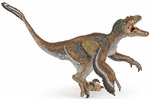 Papo Museum Quality Feathered Velociraptor Model Dinosaur Toy Figure