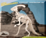 3D Parasaurolophus Wood Puzzle Skeleton Kit, 11 inch, 6 Sets