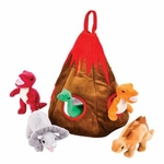 Unipak Stuffed Dinoaurs Plush Toys Volcano Play House