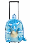 Triceratops Plush Dinosaur Stuffed Travel Bag, 12 inch
