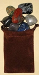 Pollished Gemstones Party Favor, 12 Pouches