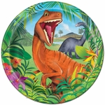 Prehistoric Jungle Dino Lunch Plates, 9 inch