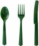 Premium Quality Green Cutlery Set, 18 pcs