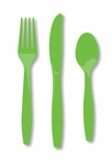Premium Quality Lime Green Cutlery Set, 18 pcs
