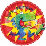 Happy Birthday T-rex Pterodactyl Dinosaur Balloon, 20""