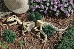 3-Piece Raptor Bones Skeleton Resin Garden Sculpture, 27""