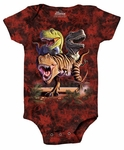 Rex Collage Baby Onesie