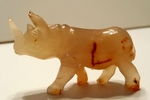 Rhino Gemstone Figure