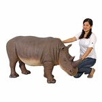 Grand-Scale Rhinoceros Statue 58""
