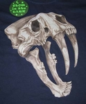 Glow In The Dark Prehistoric Saber Tooth Cat T shirt