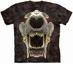 Prehistoric Saber Tooth Tiger Skull T-shirt Adult Sizes