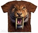 Prehistoric Saber Tooth Cat Tiger T-shirt Adult Sizes