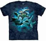 Sea Turtle Collage Adult T-shirt