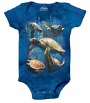 Sea Turtle Family Baby Onesie