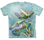 Sea Turtle Swim Adult T-shirt