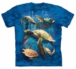 Sea Turtle Family Youth & Adult T-shirt