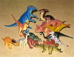 "Small Dinosaurs Toys Play Set, 2""-4.5"", 12 Sets"