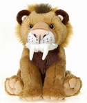 Fiesta Saber Tooth Cat Cuddly Soft Plush Prehistoric Animal Toy, 12 inch