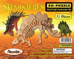 Jurassic Stegosaurus Wooden Skeleton Dinosaur Model Puzzle Kit 16.8""