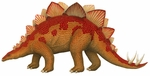 Large Jurassic Stegosaurus Wall Decal,  48 inch