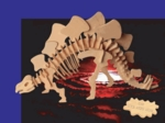 3D Stegosaurus Wooden Bones Skeletons Kits, 27 inch, 3 Sets