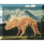 3D Styracosaurus Woodcraft Construction Kit, 11.5 inch, 6 Sets