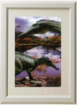 3D Jurassic World Suchomimus Framed Picture Wall Decoration