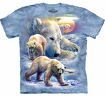 Sunrise Polar Bear Collage Youth & Adult T-shirt
