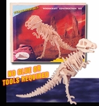 3D T-rex Woodcraft Bones Skeleton Puzzle Kit, 6 Sets