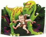 "Dinosaur T-rex Cutout Picture Photo Stand, 47"" x 29"""
