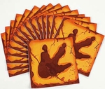 T-rex Footprint Dino Mite Party Lunch Napkins, 16 Pcs