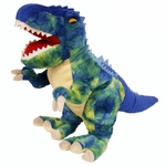 Blue T-rex Soft Plush Dinosaur Toy, 15 inch