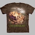 I Dig Dinosaurs Triceratops T-shirt