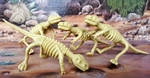 "T-REX Dinosaur Bendable Skeletons Figures 5.5 inch"", 4 pcs"
