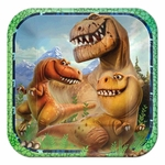 "The Good Dinosaur Square Paper Beverage Plates, 7"", 8 pcs"
