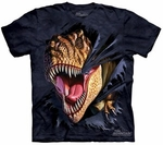 Dinosaur T-rex Graphic Ripping T-shirt