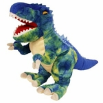 "Colorful T-rex Soft Plush Dinosaur Toy, 15"", 4pcs."