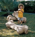 Gigantic T-rex Dinosaur Bone Sculpture 43""