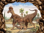 "T-rex Picture Jurassic World Dinosaur Wall Decoration 19"" x 13"""