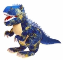 Blue Giant T-rex Stuffed Dinosaur Toy with Roaring Sound, 43""
