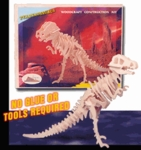 3D T-rex Wood Bones Skeletons Kits, 13 inch, 6 Sets