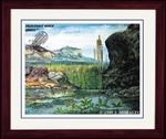 "Triassic Framed Art Picture 14"" x 17"""