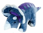 Wild Republic Medium Triceratops Soft Touch Dinosaur Plush Toy, 15""