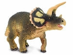 Safari Triceratops Scale Model Dinosaur Toy Prehistoric Replica