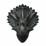 3D Triceratops Dinosaur Wall Mount Head Trophy, 16""